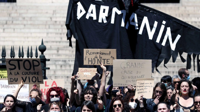 Hundreds of French women protest against new interior minister