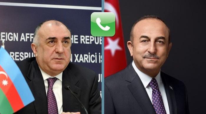 Azerbaijani, Turkish FMs hold phone talk