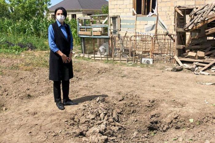 Ombudsman Tovuzda dağıdılmış evlərə baş çəkib