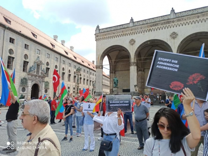 Mass Rally In Support Of Azerbaijan Held In Munich Photo