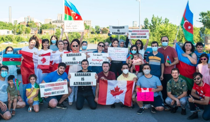 Azerbaijani community holds car rally in Ottawa against Armenian aggression