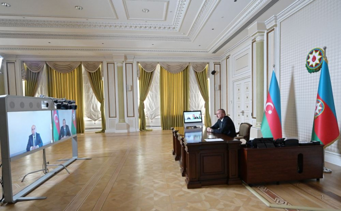 President Ilham Aliyev receives Emin Amrullayev on his appointment as Minister of Education