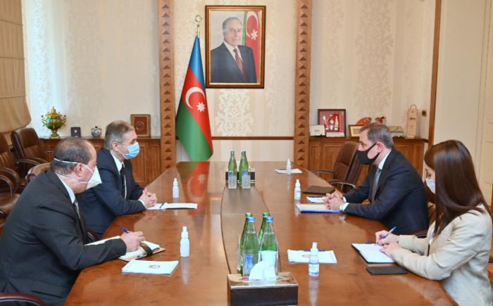 Azerbaijani FM meets with ambassador of Palestine