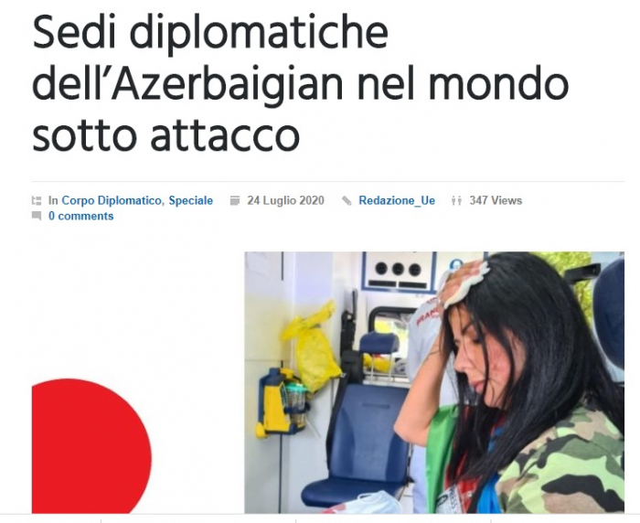 Italian media highlights Armenian aggression against Azerbaijanis in different countries