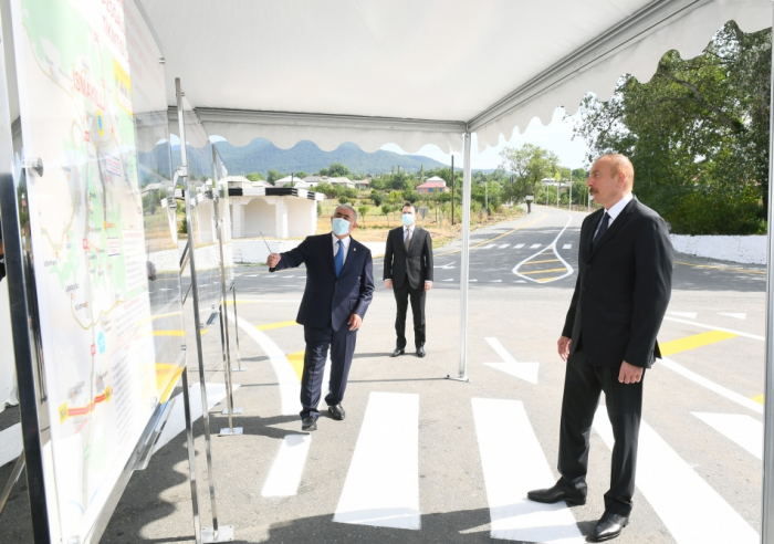 President Ilham Aliyev inaugurated newly reconstructed highway- UPDATED, PHOTOS