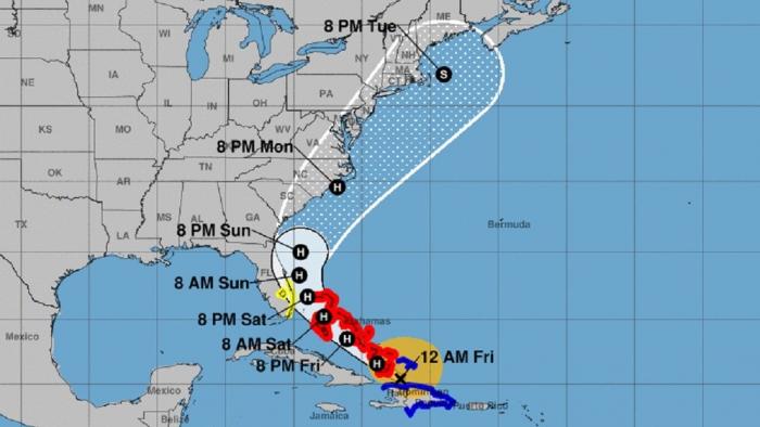 La tormenta tropical Isaías, que avanza hacia Florida, se convierte en huracán de categoría 1