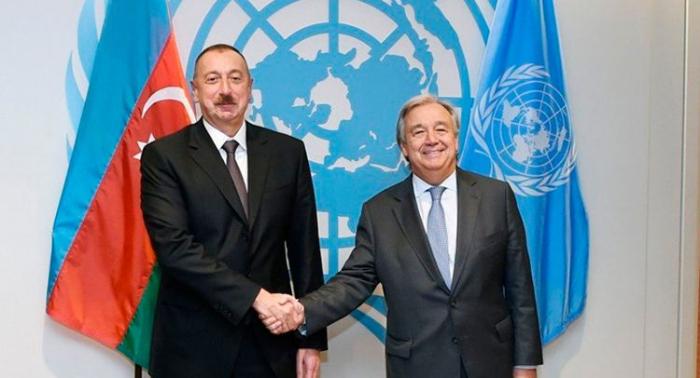 Guterres apoya la iniciativa del presidente de Azerbaiyán