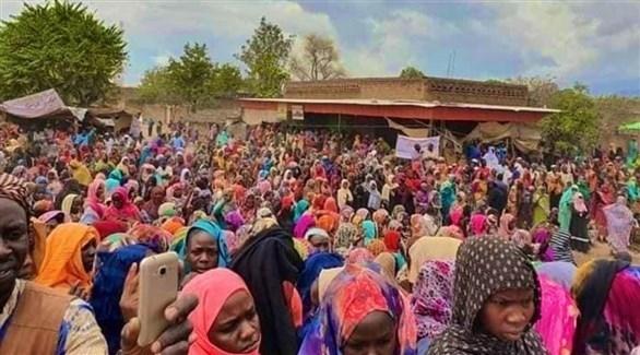 مئات السودانيين يعتصمون في وسط دارفور للمطالبة بالأمن