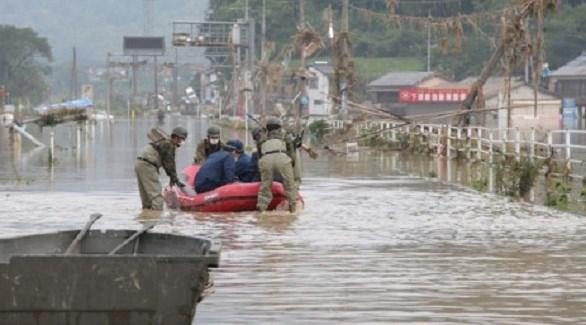 ارتفاع حصيلة ضحايا الأمطار الغزيرة في اليابان إلى 24 قتيلاً
