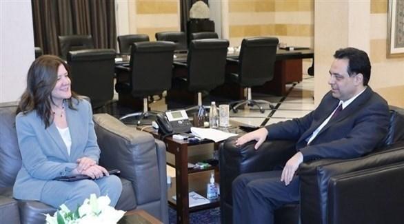دياب: واشنطن أبدت إيجابية حول مساعدة لبنان