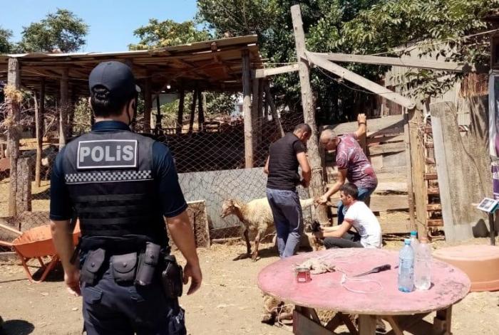 Polis qanunsuz ət kəsənlərə qarşı reyd keçirdi