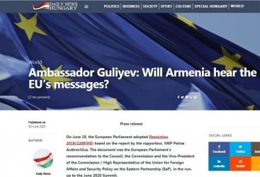 """La edición húngara dio un mensaje a Armenia: """"El tiempo se está acabando"""""""