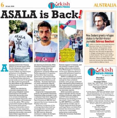 Un periódico australiano escribe sobre la intención de los armenios de restaurar la organización terrorista ASALA