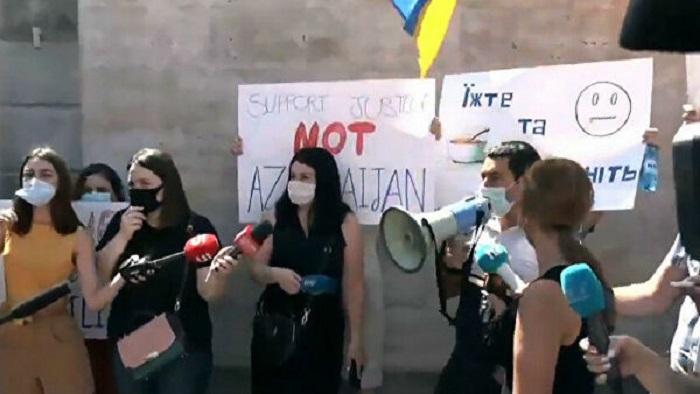 Ermənistandan Ukrayna səfirliyinə qarşı təxribat -