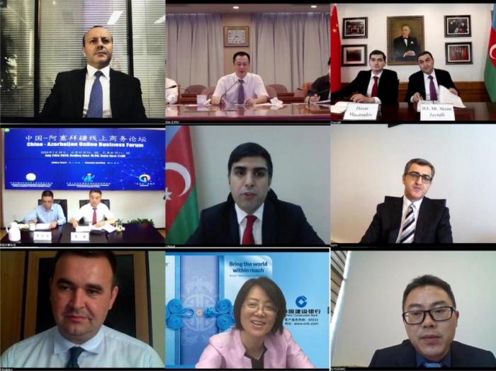 Se celebró el Foro Empresarial en Línea China-Azerbaiyán