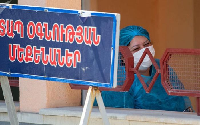 Ermənistanda koronavirusa yoluxma sayı -
