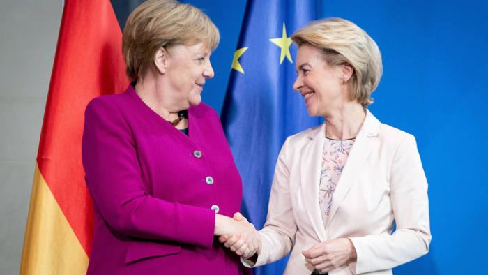 Merkel and von der Leyen push for coronavirus recovery fund, calling for EU solidarity