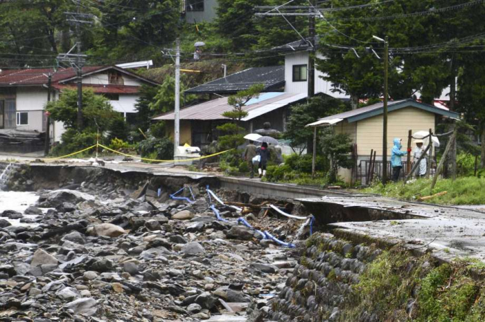 Death toll after week of heavy rain in Japan rises to 70, 13 still missing