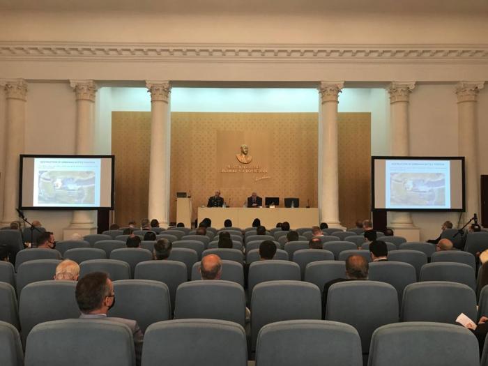 Officials of Azerbaijan MoD and MFA holdjoint briefing in Baku