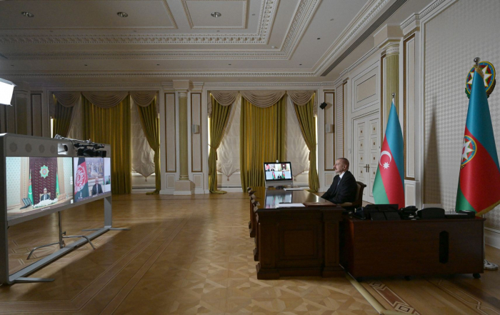 Video conference held among Azerbaijani, Afghan and Turkmen Presidents