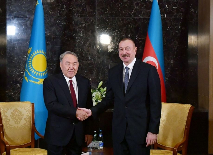 Azerbaijani president congratulates Nursultan Nazarbayev on his birthday