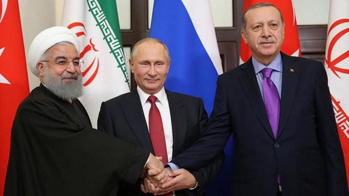 Putin, Ruhani və Ərdoğandan Suriya -