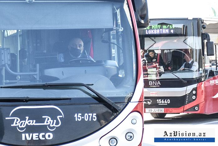 3 əlavə ekspress xətt üzrə avtobuslar fəaliyyətə başladı