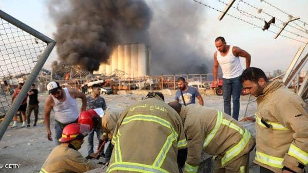 انفجار بيروت يساوي زلزالا بقوة 4.5 درجات