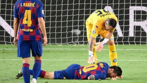 """برشلونة عقب إصابة ميسي: """"إن حالته ليست خطيرة"""""""