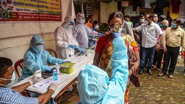 رقم قياسي جديد بإصابات كورونا اليومية في الهند