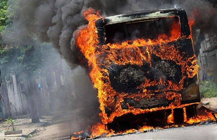 BNA-dan yanan avtobusla bağlı açıqlama