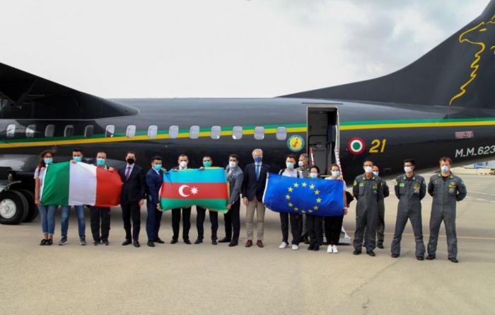 EU support team of Italian doctors arrive in Azerbaijan - PHOTOS