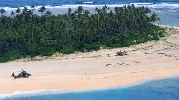 3 missing men rescued from Micronesia archipelago after writing SOS in sand