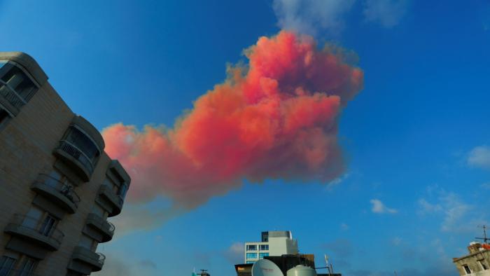 VIDEO  :   la fuerte explosión en Beirut