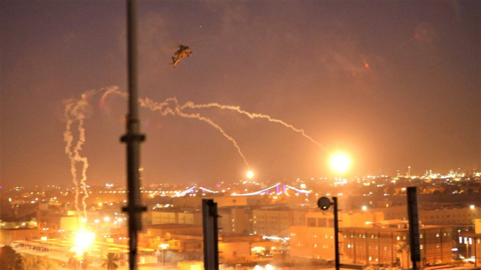La Embajada de EE.UU. en Bagdad repele un ataque con proyectiles