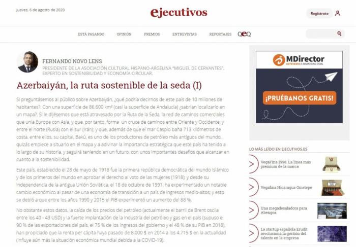 عدوان أرمينيا في الإعلام الاسباني