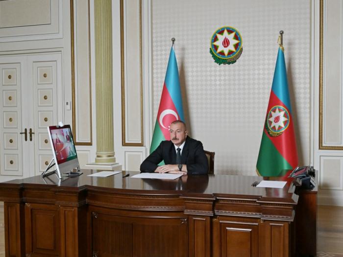 Ilham Aliyev celebra videoconferencia de la lucha contra el coronavirus -   FOTOS