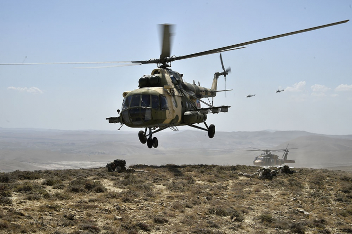 "Helicopters involved in ""TurAz Qartalı-2020"" exercises -  VIDEO"