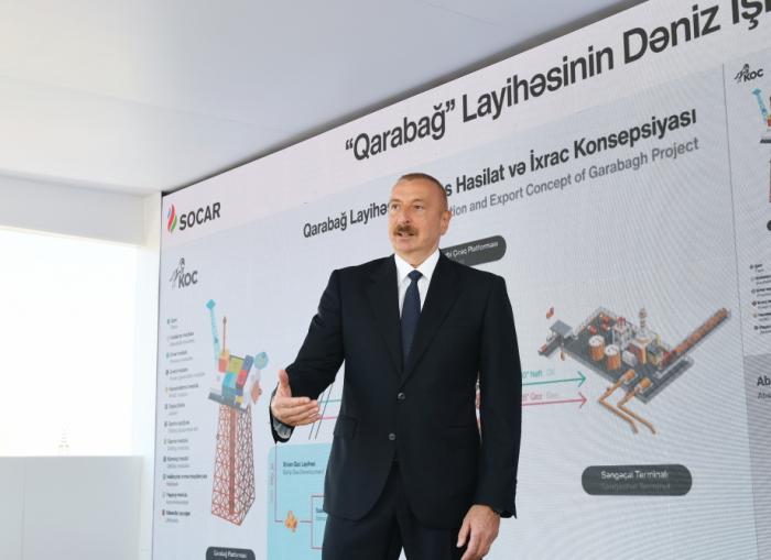 """""""Qarabağ"""" və digər yataqlar uğurla istismar ediləcək -    Prezident"""