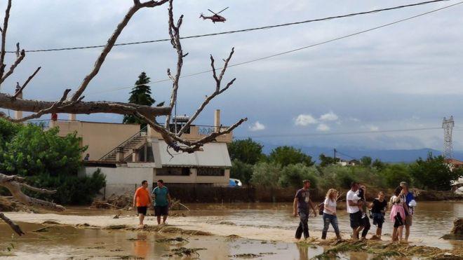 Floods leave several people dead on Greek island
