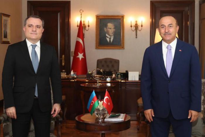 Azərbaycan və Türkiyə XİN rəhbərləri görüşdü -  FOTO