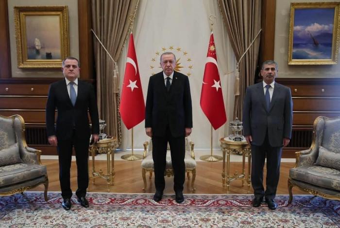Turkish president receives Azerbaijani foreign, defense ministers