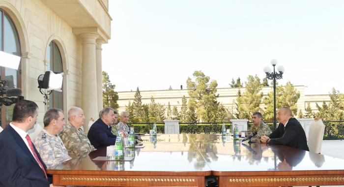 President Ilham Aliyev receives Turkey's military delegation