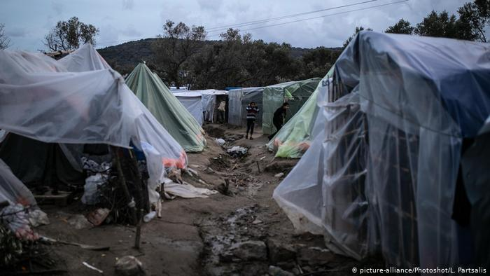 Greece reports first case in island migrant camp