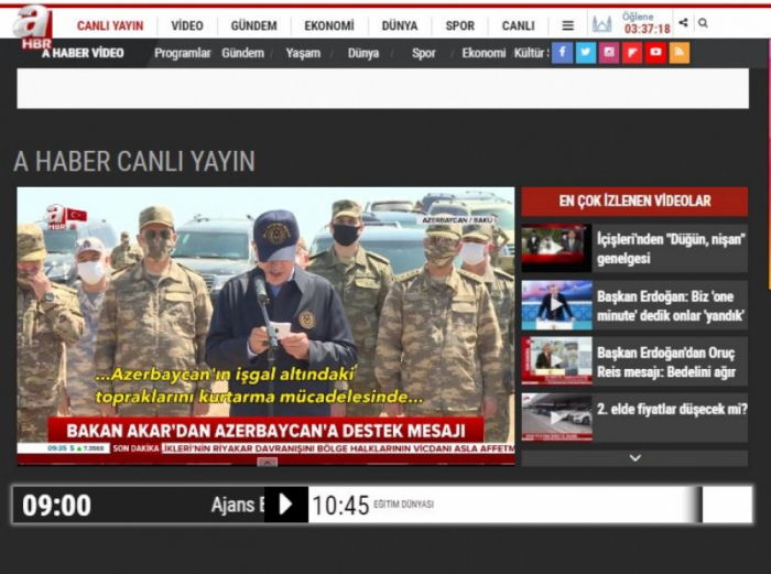 Top Turkish military officials' Baku visit widely covered by local media