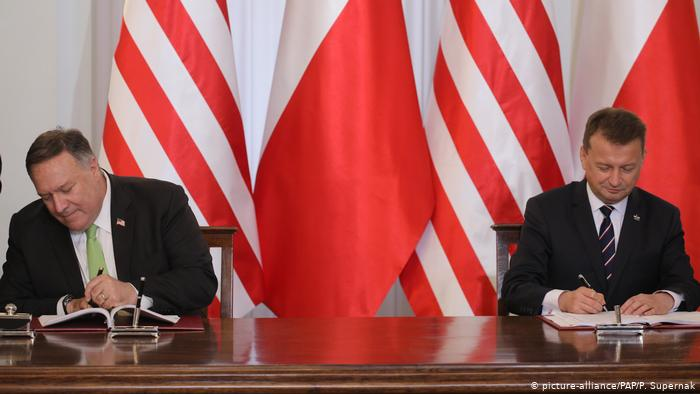 U.S. signs deal on redeployment of its troops from Germany to Poland