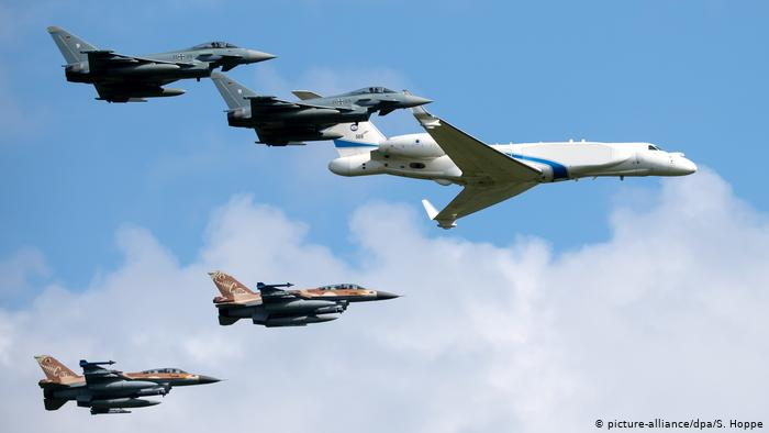 German and Israeli jets mark first joint flyover, honor Holocaust victims