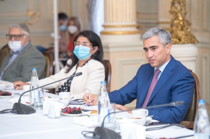 Assistant to Azerbaijani president meets group of prominent culture, art figures