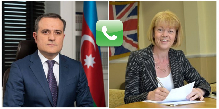 Azerbaijani FM holds phone talk with British minister