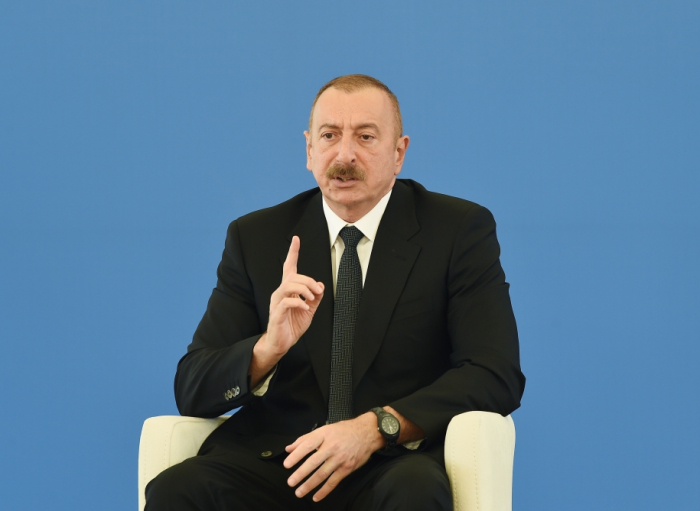 Irresponsibility led to severe damage in our energy system, says President Ilham Aliyev